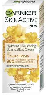Garnier SkinActive Hydrating+Nourishing Botanical Day Cream with Flower Honey 50mL