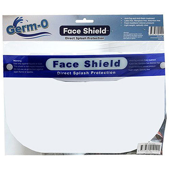 Germ-O Face Shield Direct Splash Protection 1pck
