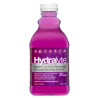 Hydralyte Drink 1L (Apple Blackcurrant)