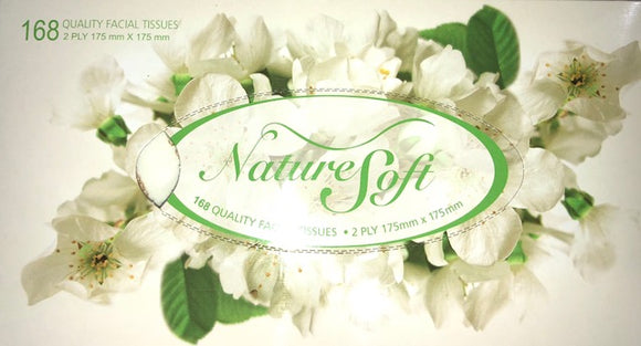 Nature Soft Tissue Box 2 Ply 168 Sheet