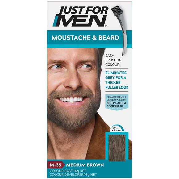 Just for Men Moustache & Beard Colour Medium Brown M-35
