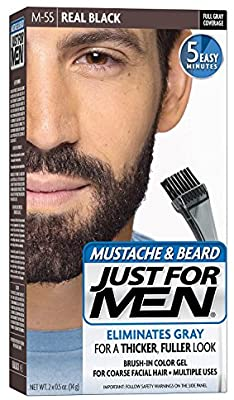 Just for Men Moustache & Beard Colour Real Black M-55