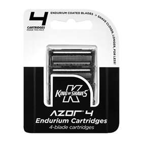 King of Shaves Azor 4 Endurium 4-Blade 4 Cartridges