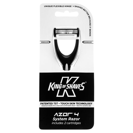 King of Shaves Azor 4 System Razor 2 Cartridges