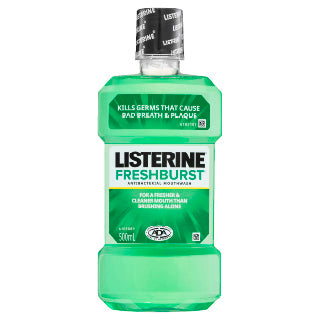 Listerine Fresh Burst Mouthwash 500mL