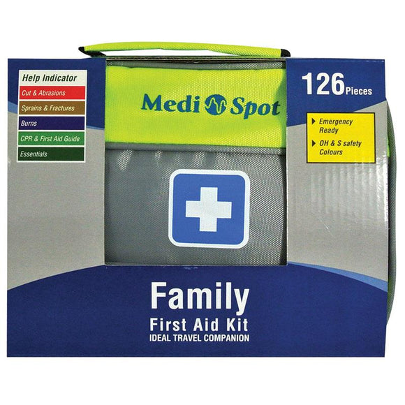 Medi Spot Travel First Aid Kit 126 Pieces