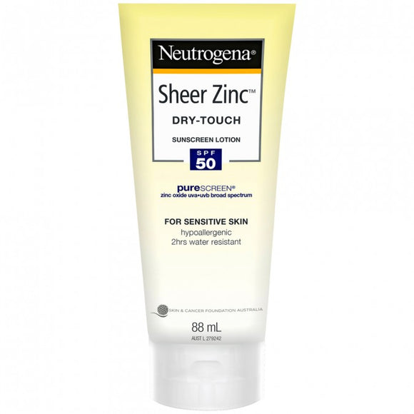 Neutrogena Sheer Zinc Dry-Touch Sunscreen SPF50 88mL
