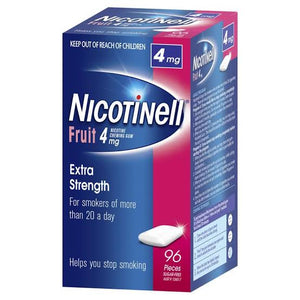 Nicotinell Gum Fruit 4mg Extra Strength 96 pieces