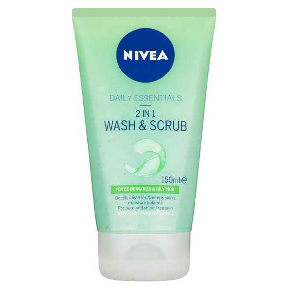Nivea 2 in 1 Wash & Scrub 150ml