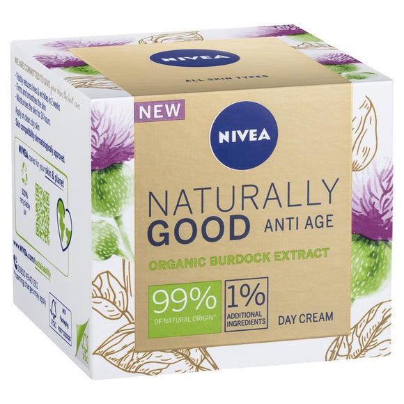 Nivea Naturally Good Anti-Age Organic Burdock Extract Day Cream 50ml