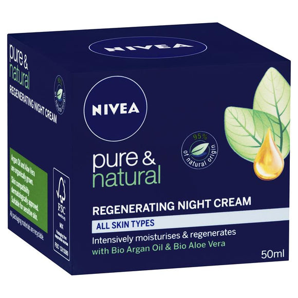 Nivea Pure & Natural Regenerating Night Cream 50ml