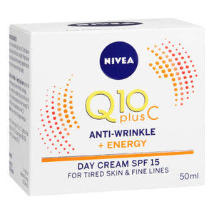 Nivea Q10 Plus C Anti-Wrinkle + Energy Day Cream SPF15 50ml