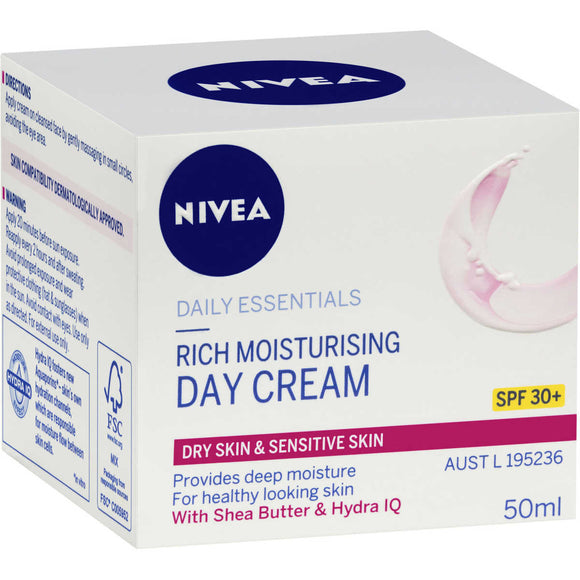 Nivea Rich Moisturising Day Cream SPF30+ 50ml