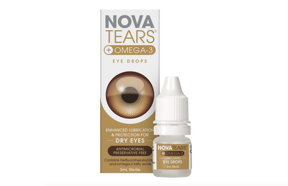 Novatears plus Omega 3 Eye drops 3mL