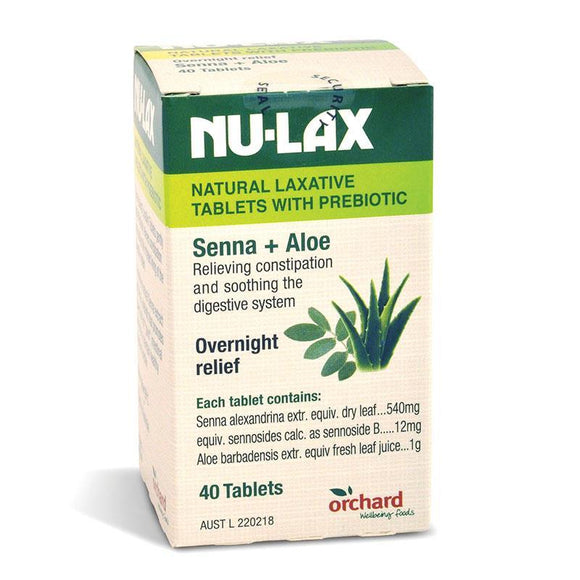 Nulax Natural Laxative 40 Tablets