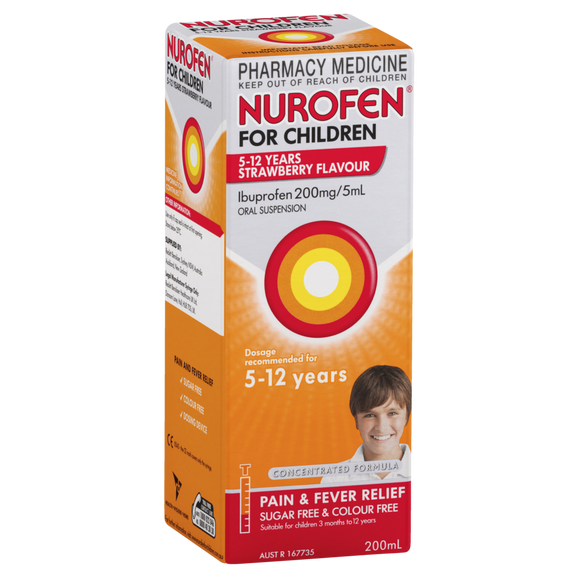 Nurofen for Children 5-12 years [STRAWBERRY] 200mL