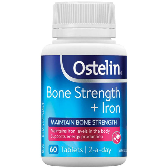 Ostelin Bone Strength + Iron 60 Tablets