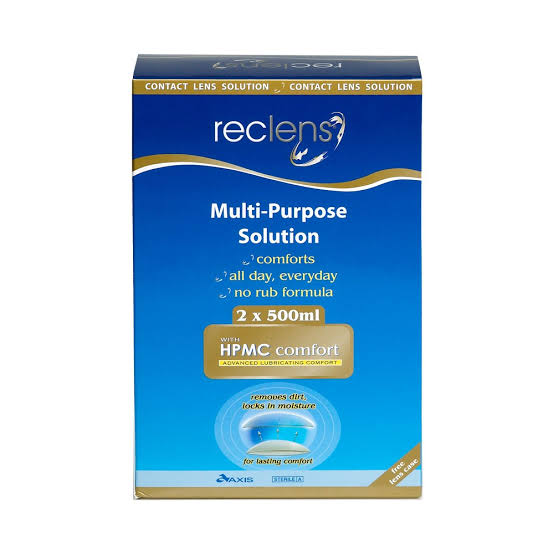 Reclens Multi-Purpose Solution 2 x 500mL with Lens Case