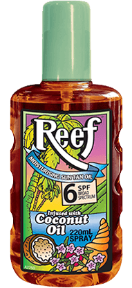 Reef Moisturising Sun Tan Oil Spray [coconut] SPF6 220mL