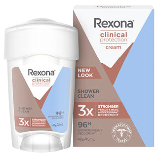 Rexona Clinical Protection Cream Shower Clean Antiperspirant 48g