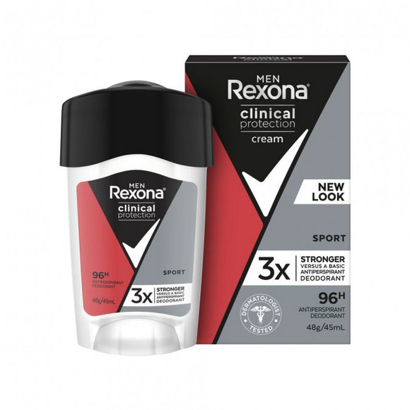 Rexona Men Clinical Protection Cream Sport Antiperspirant 48g