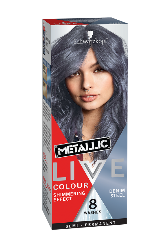 Schwarzkopf Live Colour Metallic Denim Steel 8 Washes