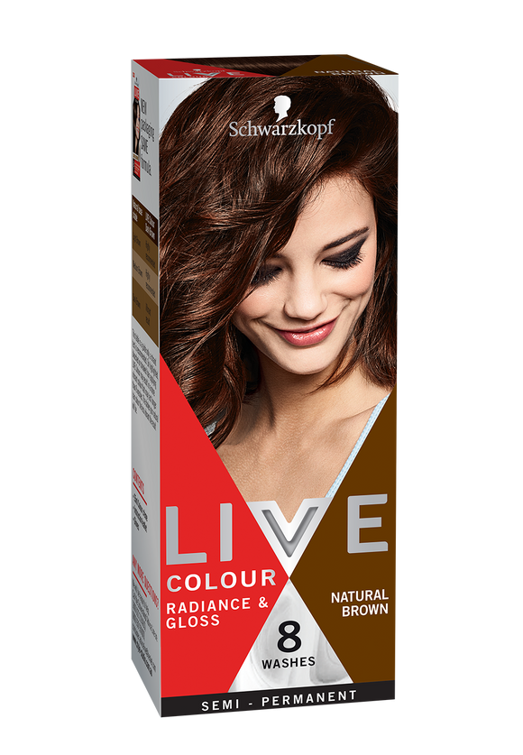 Schwarzkopf Live Colour Natural Brown 8 Washes - discontinued