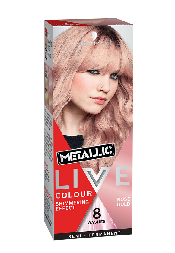 Schwarzkopf Metallic Live Colour Rose Gold 8 Washes