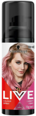 Schwarzkopf Live Colour Spray Candy Pink 1 Wash 70g