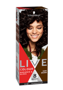 Schwarzkopf Live Colour Radiance & Gloss Dark Brown 8 Washes