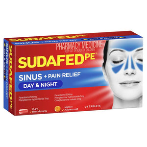 Sudafed PE Sinus Day & Night Relief 24