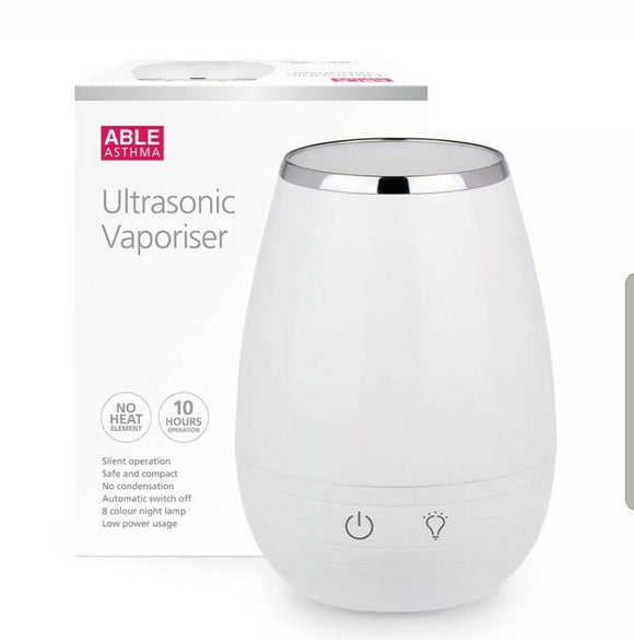 Able ultrasonic vaporiser with free able essential oil 15mL