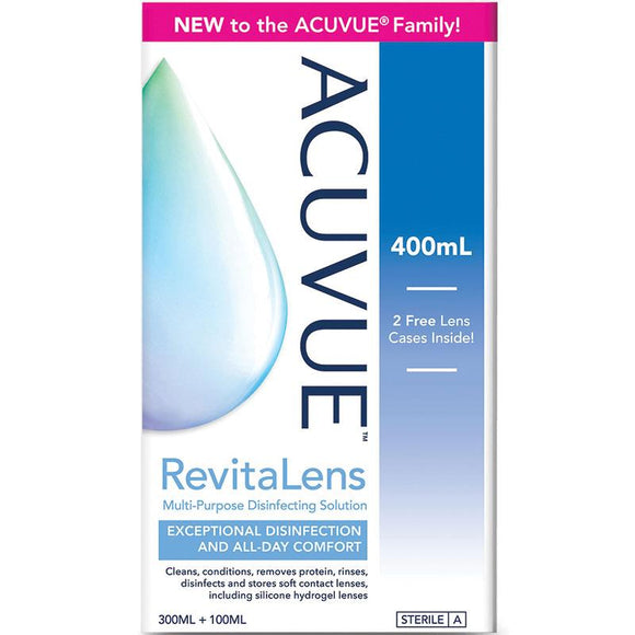 Acuvue Revitalens Multipurpose disinfection solution 300mL + 100mL