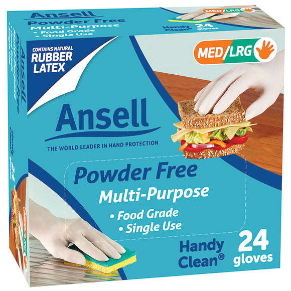 Ansell Powder Free Multi-Purpose Gloves 24 (Med/Large)