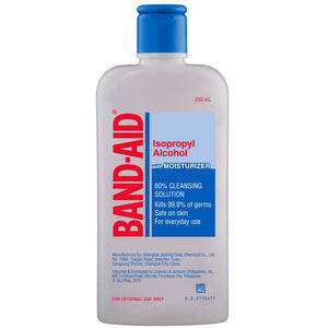 Band-Aid Isopropyl Alcohol 60% cleaning solution 250mL