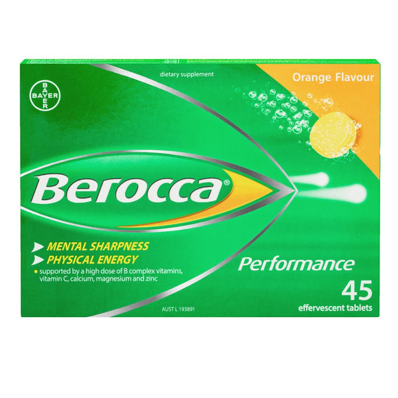 Berocca Performance Orange Effervescent tablets 45