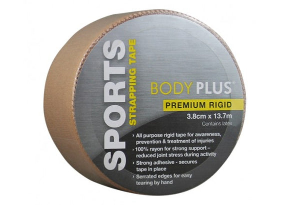 Body Plus Latex Free Sports Strapping Tape 3.8cm x 13.7m