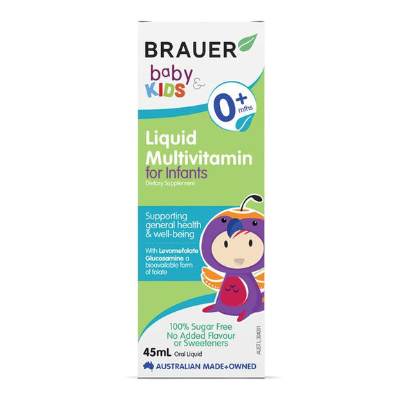 Brauer Baby Liquid Multivitamin for Infants 45mL