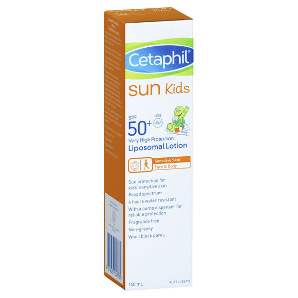 Cetaphil Kids Liposomal SPF50+ Lotion sunscreen 150mL