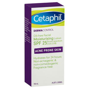 CETAPHIL DERMACONTROL OIL-FREE FACIAL MOISTURISING LOTION SPF 25 118ML