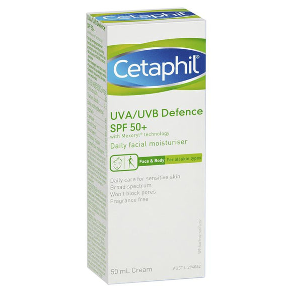 Cetaphil UVA/UVB Defence SPF 50+ 50mL
