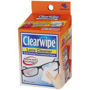 Clearwipe Moist Lens Cleaner 20 Pack