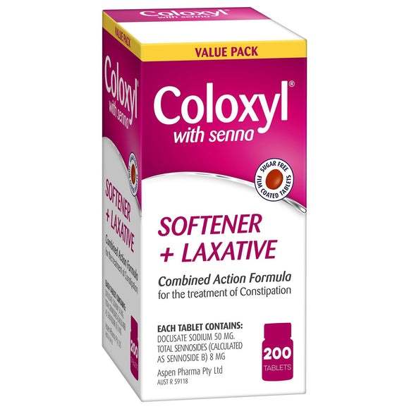 Coloxyl with Senna 200 Tablets Value Pack