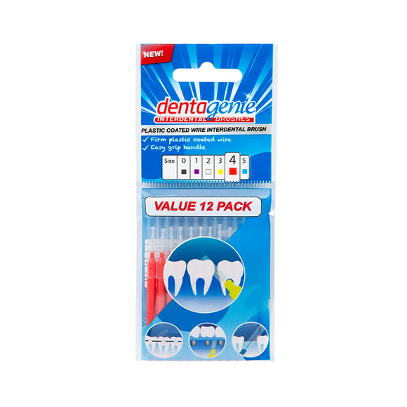 Dentagenie Interdental Brushes 12 pack (Size 4)