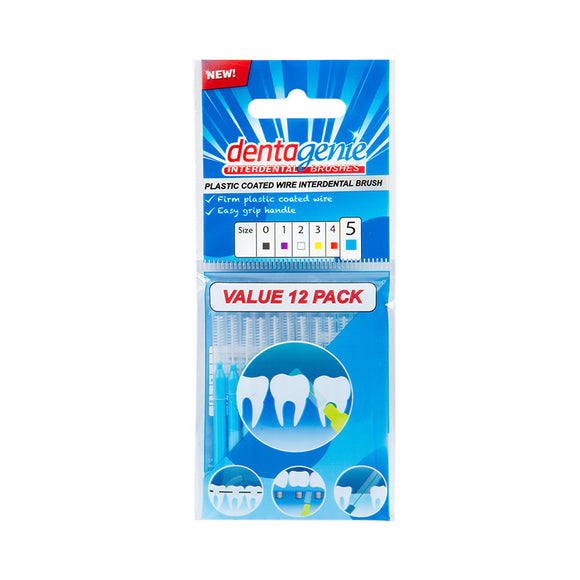 Dentagenie Interdental Brushes 12 pack (Size 5)