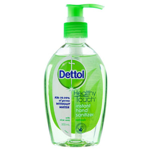 Dettol Instant Hand Sanitizer Refresh Aloe Vera Pump 200mL