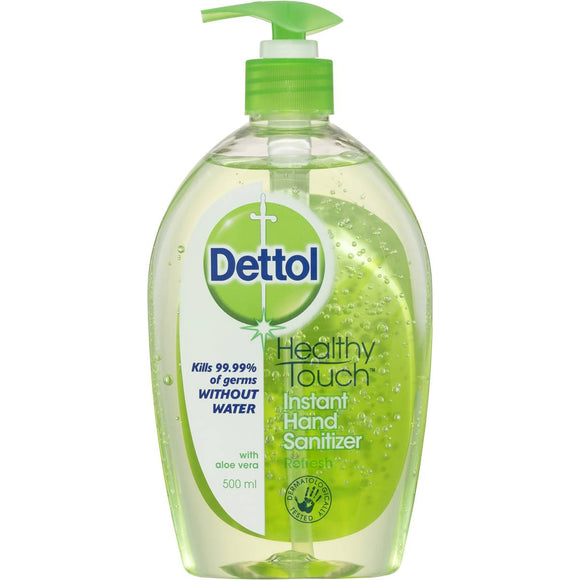 Dettol Instant Hand Sanitizer Refresh/Green pump 500mL