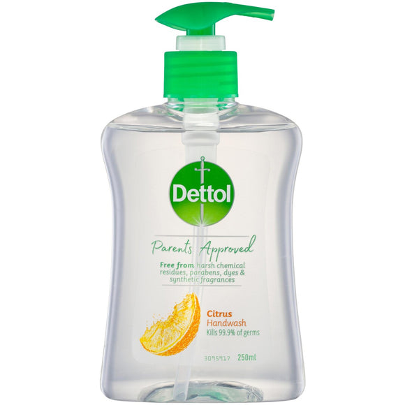 Dettol Parents Approved Handwash 250mL (Citrus)