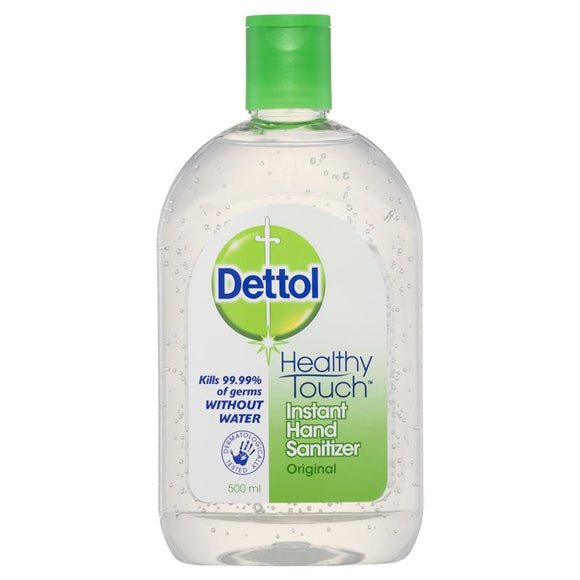 Dettol Instant Hand Sanitizer Clear/Original 500mL