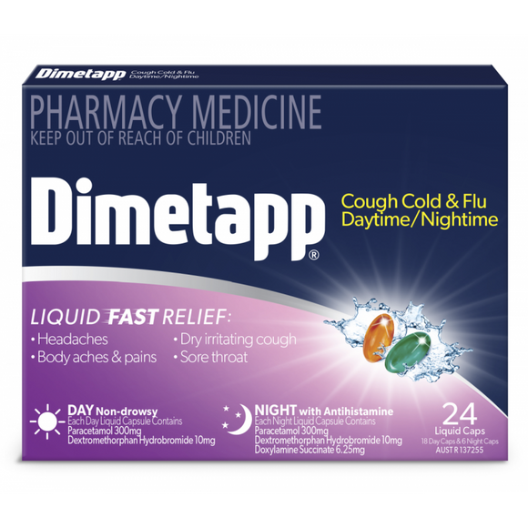Dimetapp Day & Night Liquid Capsules 24